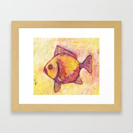 Fish One Pillow Framed Art Print