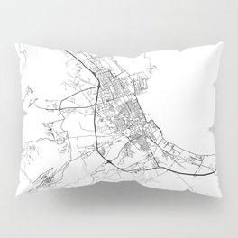 Minimal City Maps - Map Of Palermo, Italy. Pillow Sham
