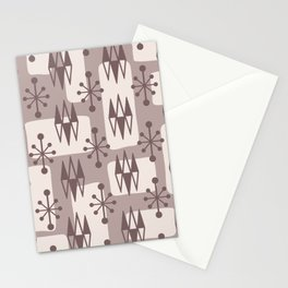 Mid Century Modern Abstract Atomic Diamonds 223 Stationery Cards