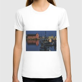 Moonlit Rockport Harbor T-shirt