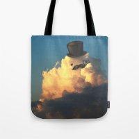 gentleman Tote Bags featuring Gentleman by Lili Batista