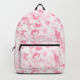 Abstract Flora Millennial Pink Backpack
