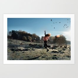Touch the sky and Fly Art Print