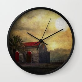 Madeira. Beach house Wall Clock