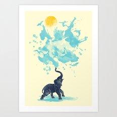 summer splash Art Print