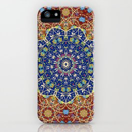 Woven Star in Blue and Red iPhone Case