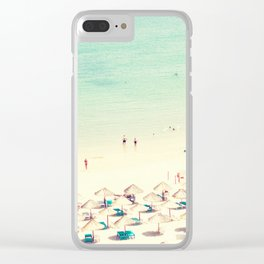 beach XVI Clear iPhone Case