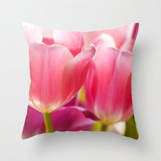 Twin Tulips Throw Pillow