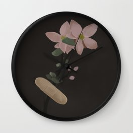 Flowers and Bandage Wall Clock