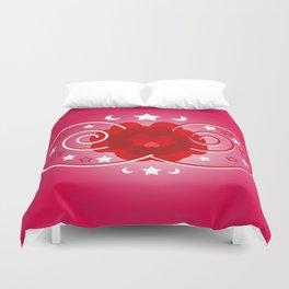 Flower of hearts Duvet Cover
