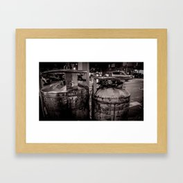 NYC Air Canister Framed Art Print