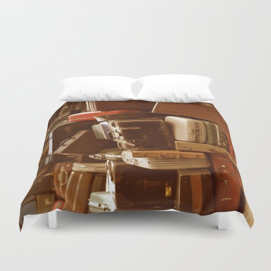 TOWER OF LUGGAGE Duvet Cover