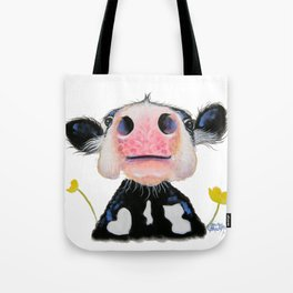 Nosey Friesian Cow ' DAFFODIL by Shirley MacArthur Tote Bag