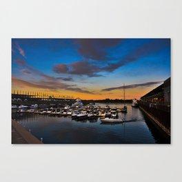 Vieux Port Sunset Canvas Print