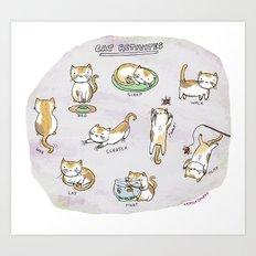 Cat Activities Art Print