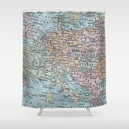old map of Europe Shower Curtain