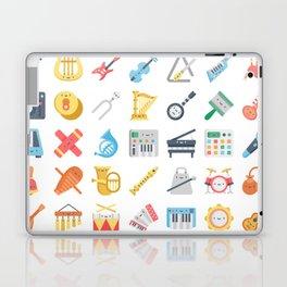 CUTE MUSICAL INSTRUMENTS PATTERN Laptop & iPad Skin
