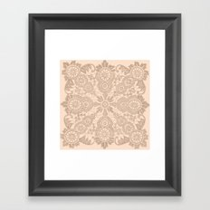 Pale Pink Lace Framed Art Print