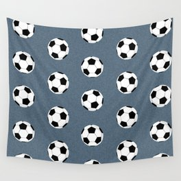Soccer pattern great decor print for nursery boys or girls rooms sports theme Wall Tapestry