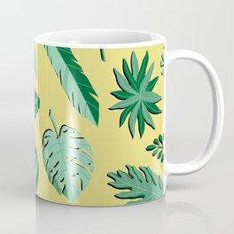Abstract Whimsical Plant Pattern - Lush Foliage Coffee Mug