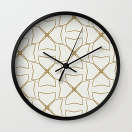 Gold and Cream Clovers Wall Clock