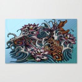 Dancing Koi Canvas Print