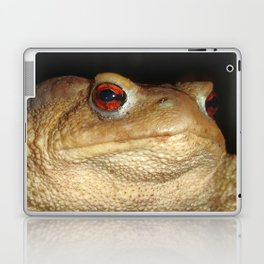 Close Up Portrait of A Common Toad Laptop & iPad Skin