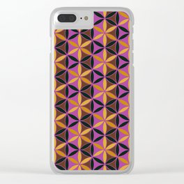 Flower of Life Pattern 13 Clear iPhone Case