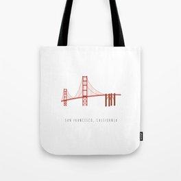 Golden Gate Bridge, San Francisco, California Tote Bag