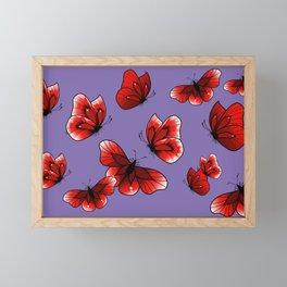 Red Butterflies for my Mom, All Over Print, Moths and Butterflies Framed Mini Art Print