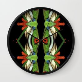 One eyed frog monster Wall Clock