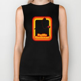 Retro Sasquatch Pacific Northwest Biker Tank