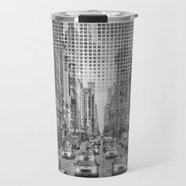 Graphic Art NEW YORK CITY Traffic | Monochrome Travel Mug