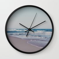 ombre Wall Clocks featuring Ombre  by Alicia Bock