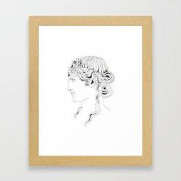 roman head Framed Art Print