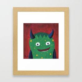 """""""Elijah's Little Monster"""" Framed Art Print"""