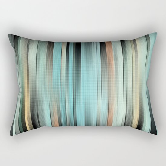Colorful Abstract Stripes Rectangular Pillow