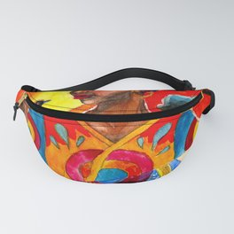 African and Indian Girls - Day VS Night Fanny Pack