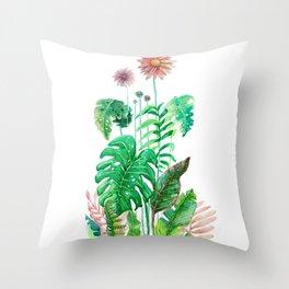 vertical tropical nature Throw Pillow