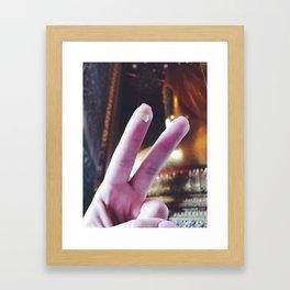 Stay Golden Framed Art Print