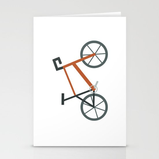 Orange Bike Stationery Cards