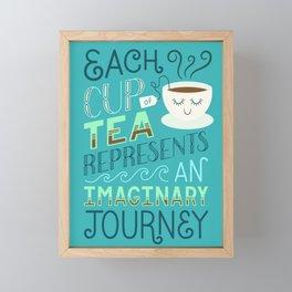 Tea is a Journey Framed Mini Art Print