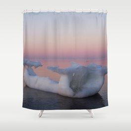 Viking Iceberg Ship Shower Curtain