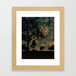 stay. Framed Art Print