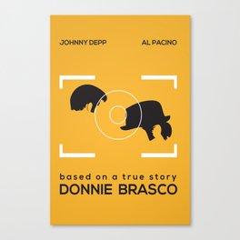 Minimal Poster   Donnie Brasco Canvas Print