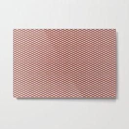 Purple Fishnet Texture on Pale Skin Metal Print