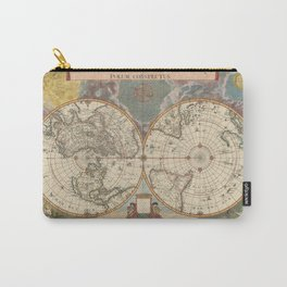 1672 World Polar Projection Map  Carry-All Pouch