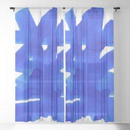 Superwatercolor Blue Sheer Curtain