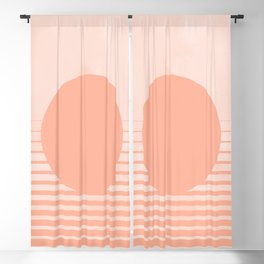 The Sweet Life Collection - Peach Coral Sun Gradient Blackout Curtain