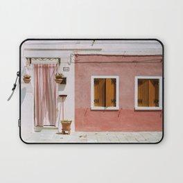 Sunny pink house Laptop Sleeve
